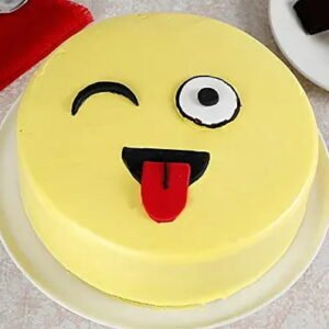 smiley butterscotch cake in jaipur