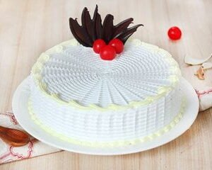 Round Shaped Vanilla Cake