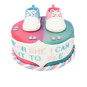 Lil Shoe Baby Shower Cake